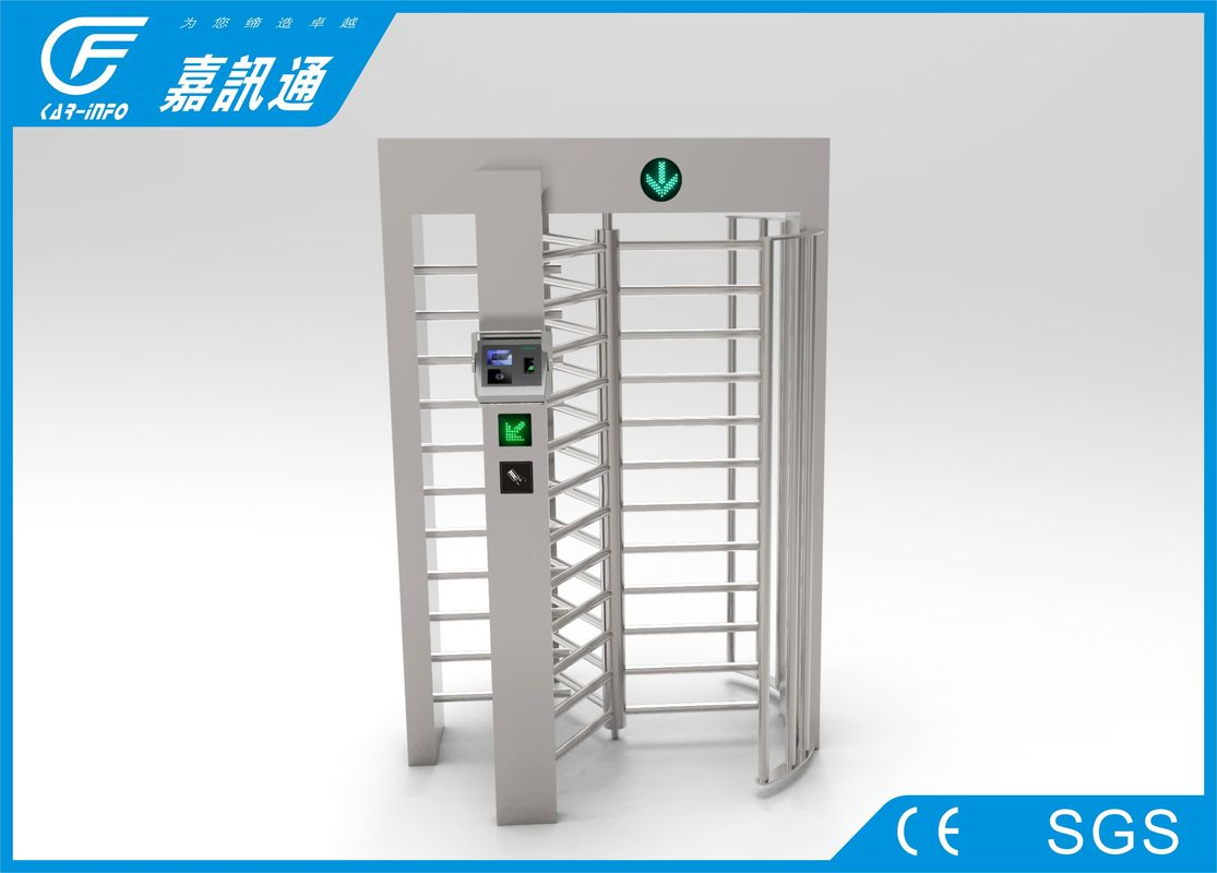 Fingerprint Reconition Full Height Turnstile Security Customized For Amusement Park