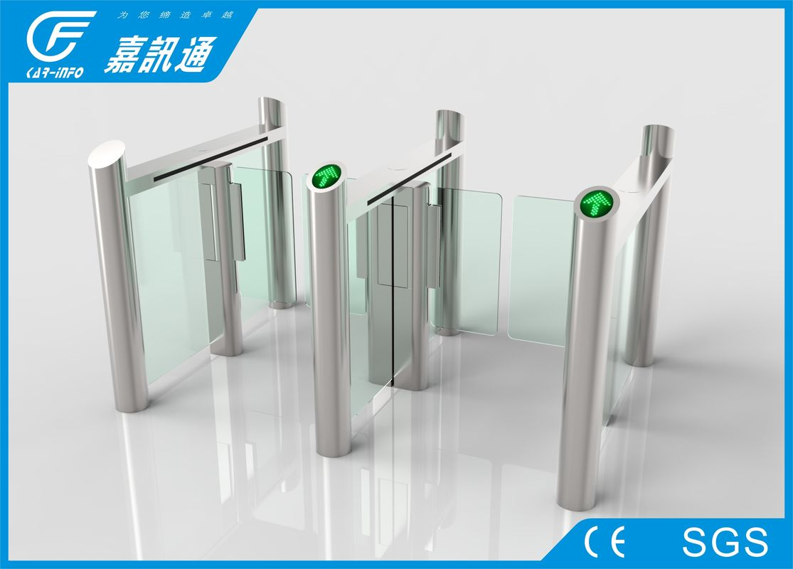 Access Control Speed Gate Turnstile Half Waist For Airport / Train Station