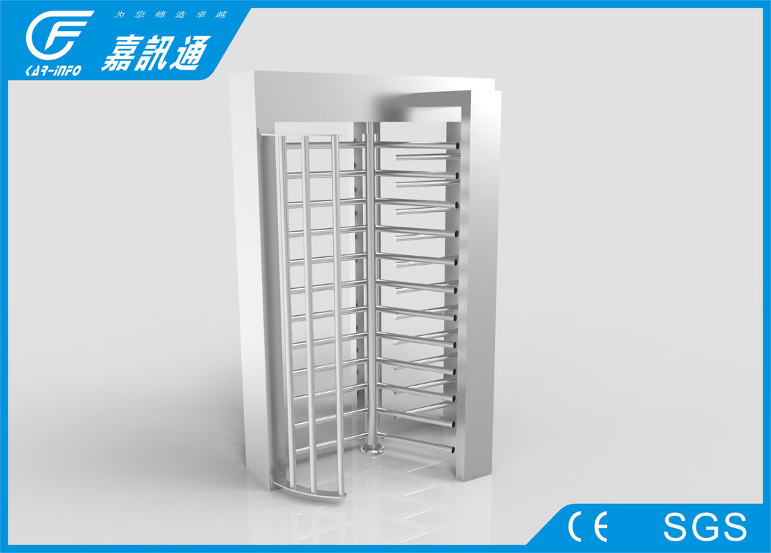 Semi - Auto One Way Full Height Turnstile Channel Width 530mm DC Motor For Factroy